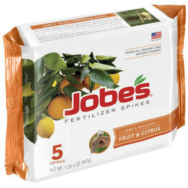 Jobe's® 01002 Fruit & Citrus Tree Fertilizer Spike, 9-12-12, 5-Pack