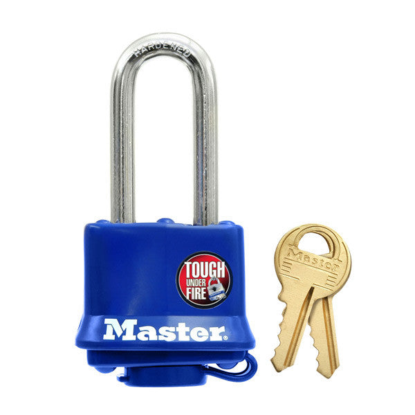Master Lock 312DLH Laminated Padlock with Weatherproof Cover, 1-9/16""