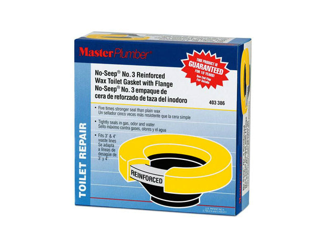 Master Plumber 004310 No-Seep® #3 Urethane Wax Toilet Gasket with Flange