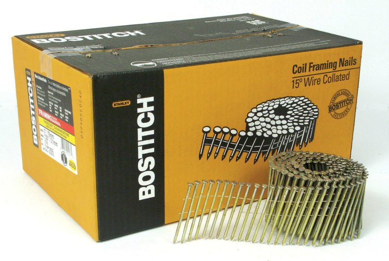 "Bostitch® C10P120DG Coil Framing Nails, 3"" x 0.120"", 2700-Pack"