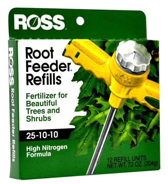 Ross® 13610 Tree & Shrub Root Feeder Refill, 25-10-10, 12-Pack