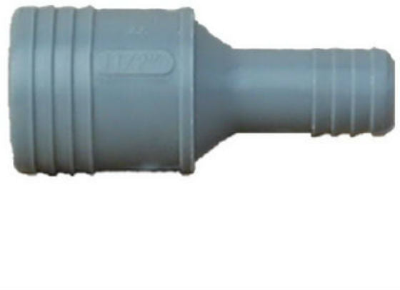 "Genova 350154 Poly Insert Reducing Coupling, 1-1/2"" x 1-1/4"", Insert x Insert"