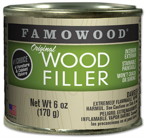 Famowood® 36141148 Original Wood Filler for Prof Woodworkers, 6 Oz, White Pine