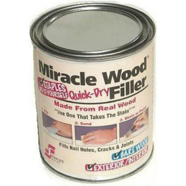 Staples 901 Miracle Wood Quick-Dry Filler, Natural, 1/4 Lbs