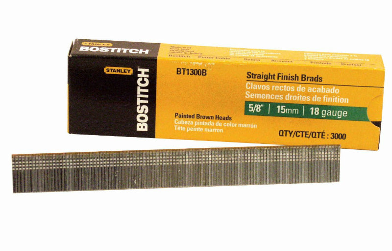 "Bostitch® BT1300B Galvanized Brad Nails, 5/8"", 18 Gauge, 3000-Count"