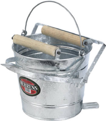 Behrens 412W Round Mop Bucket With Pull Through Wringer, 12 Qt