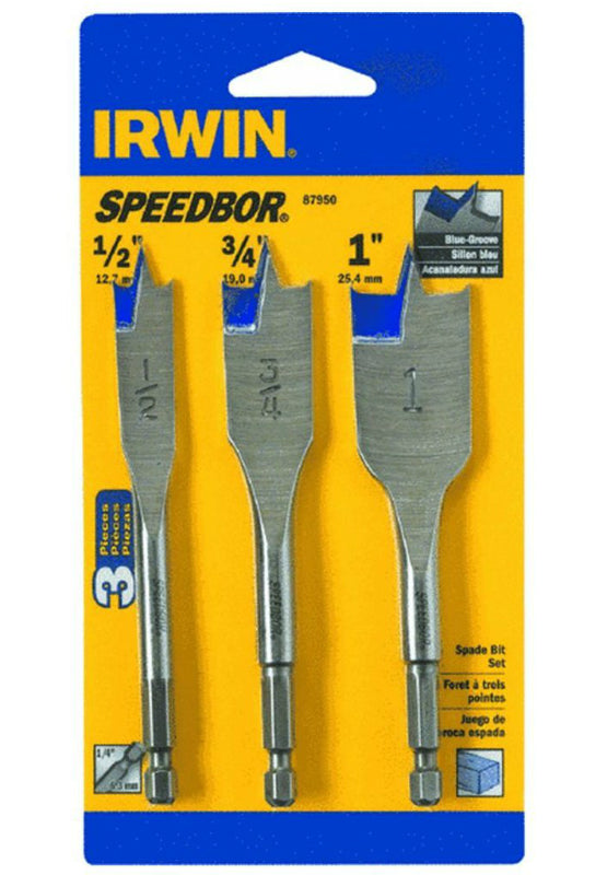 Irwin Tools 87950 Speedbor® Short Length Wood Boring Bit, 3-Piece
