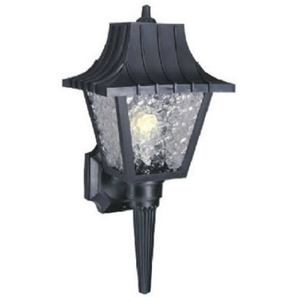 Westinghouse 66860 One-Light Exterior Wall Lantern with Removable Tail, Black