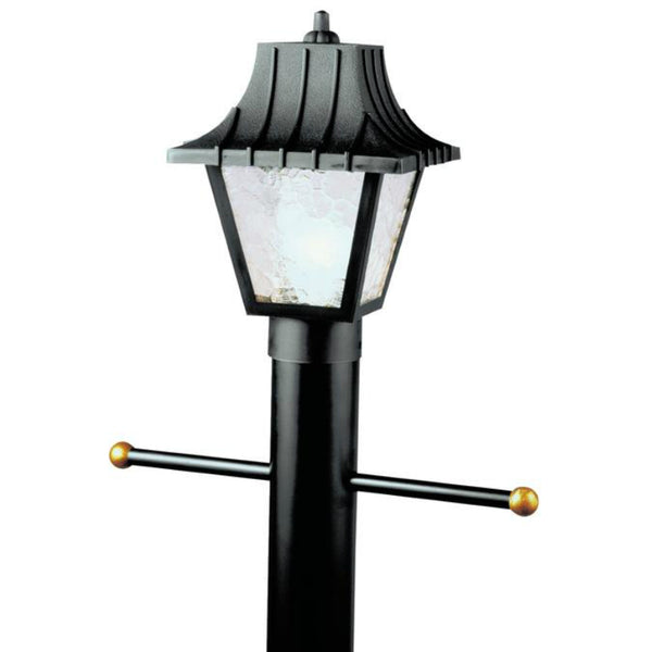 Westinghouse 66875 One-Light Post-Top Exterior Lantern w/Acrylic Panels, Black