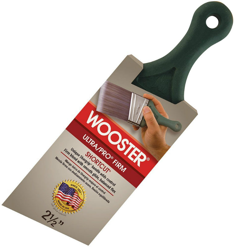Wooster® 4187-2-1/2 Ultra/Pro® Firm Shergrip Shortcut Angle Sash Paintbrush, 2.5""