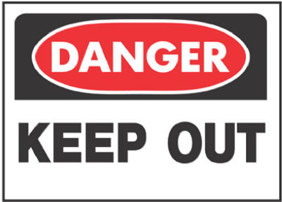 "Hy-Ko 512 Danger Keep Out Sign, 10"" x 14"""