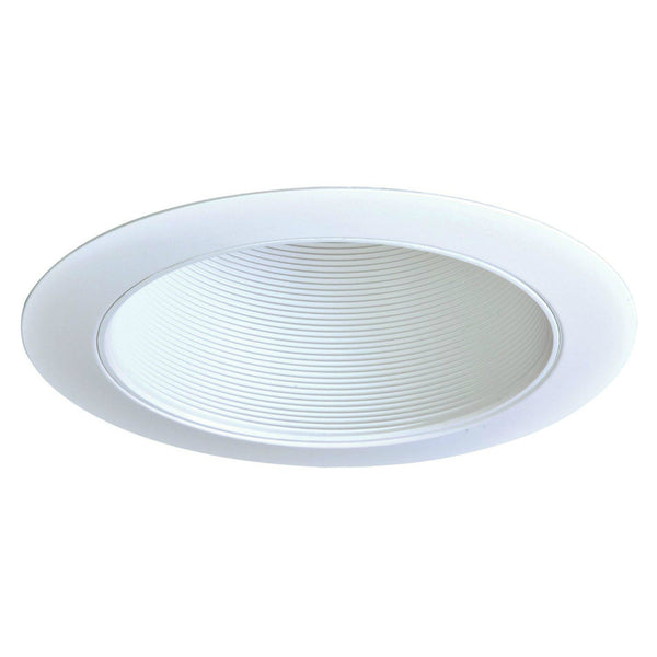 "Halo® 310W White Coilex® Baffle Recessed Trim, 6"", White Trim Ring"