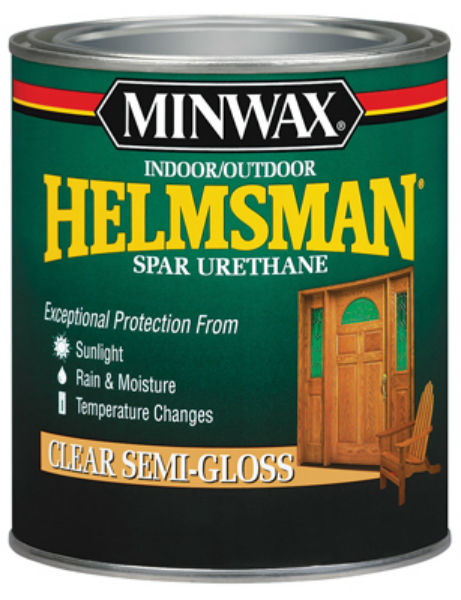 Minwax® 43210 Helmsman® Indoor/Outdoor Spar Urethane, Clear Semi Gloss, 1 Pt
