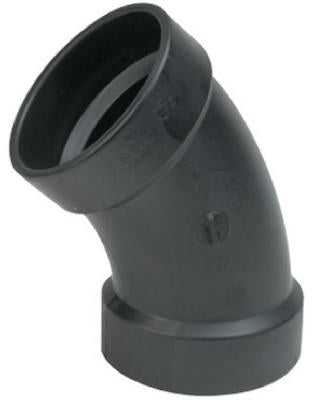 Black 45 Degree 1/8 Bend Elbow