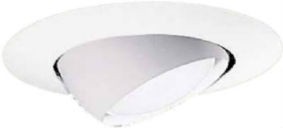 "Halo® 78P Eyeball Recessed Air-Tite™ Trim, 8"", White"