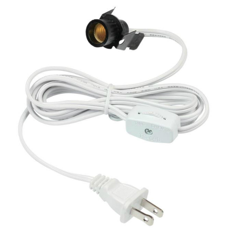 Westinghouse 70108 Cord Set with Snap-In Pigtail, White Finish