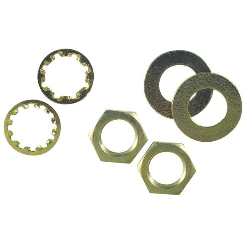 Westinghouse 70628 Brass Plated Steel Nuts & Washers, 6-Pack