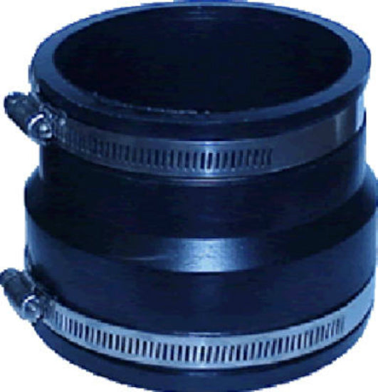 "Fernco® P1070-44 Flexible Coupling for Corrugated ADS To PVC Pipe, 4"" x 4"""