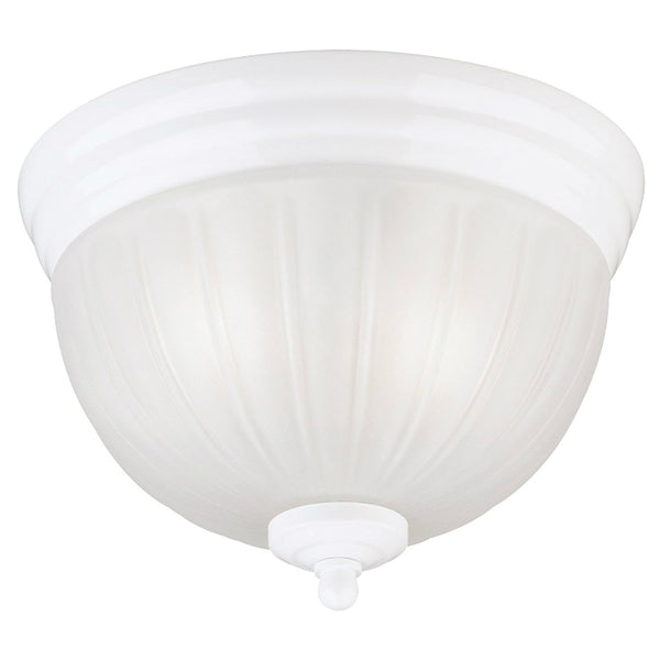 Westinghouse 67308 Two-Light Interior Flush-Mount Ceiling Fixture, White