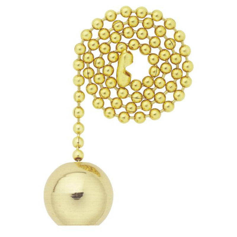 Westinghouse 77004 Solid Brass Ball Pull Chain, 12""