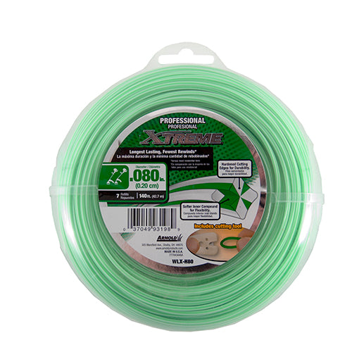 "Arnold® WLX-H80 Professional Xtreme Trimmer Line, 140' x 0.080"", 7-Refills"