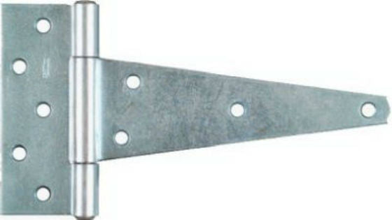 "National Hardware® N128-900 Extra-Heavy T Hinge ,10"", Zinc Plated"