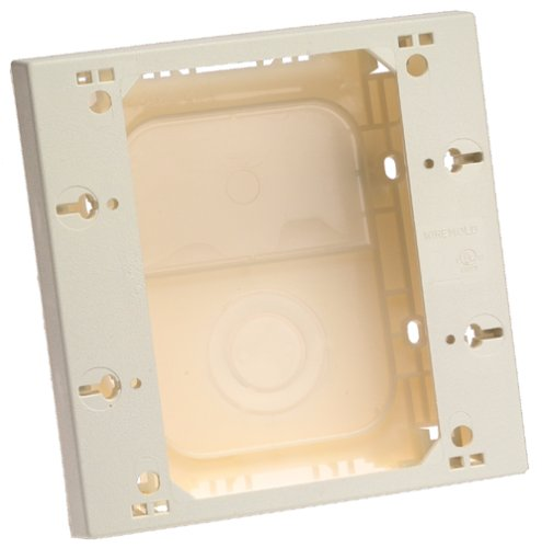 Wiremold® NM3-2 Raceway 2-Gang Outlet/Switch Box, Plastic, Ivory