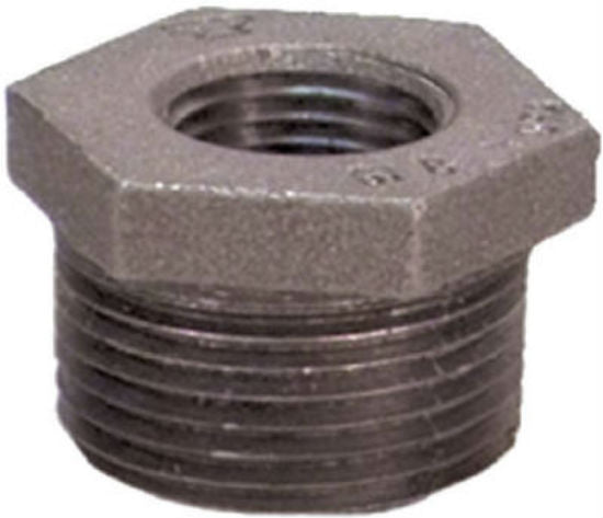 "Anvil® 8700128955 Hex Bushing, Black Finish, 1/2"" x 1/8"""