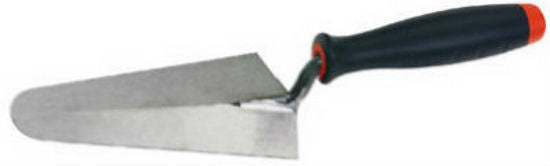 "Goldblatt® G09349 Gauging Trowel, 7"" x 3-1/8"", Carbon Steel Blade"