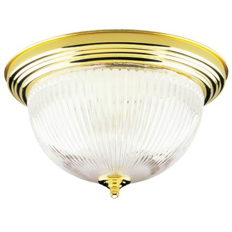 Westinghouse 66282 Interior 2-Light Flush-Mount Ceiling Fixture, Polished Brass