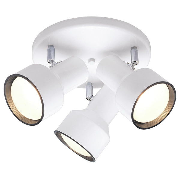 Westinghouse 66326 3-Light Multi-Directional Flush-Mount Ceiling Fixture, White