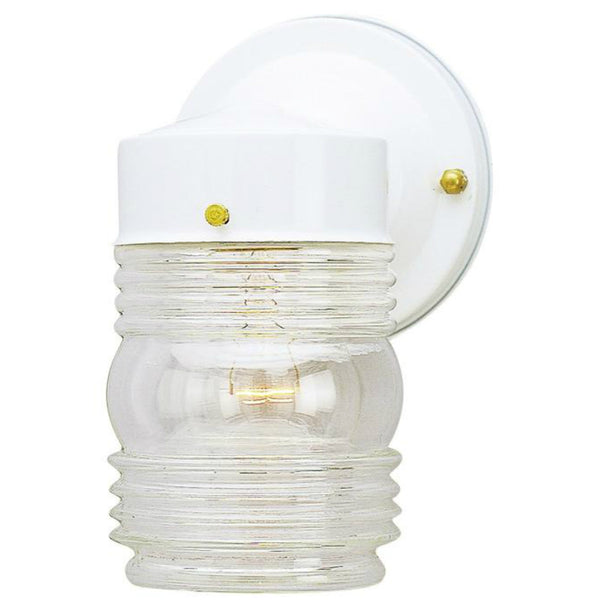 Westinghouse 66878 One-Light Jelly Jar Exterior Wall Lantern, White