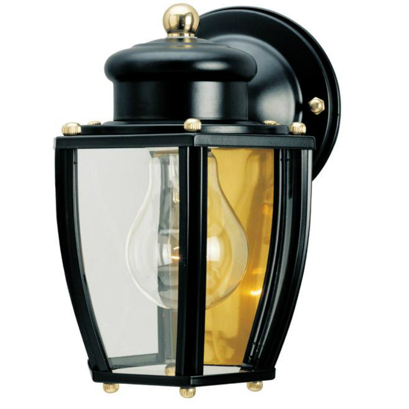 Westinghouse 66961 One-Light Exterior Wall Lantern, Matte Black Finish