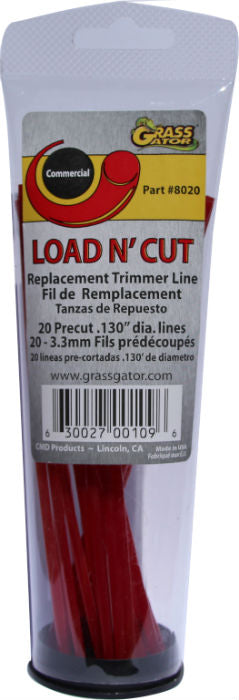 Grass Gator 8020 Replacement Line for Load N' Cut 4-Line Trimmer Head, 20-Count