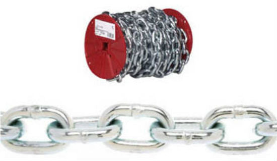 Campbell® 0722227 Proof Coil Chain, 60', Zinc Plated