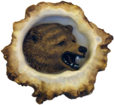 Deer Burr Cabinet Knob Grizly Bear