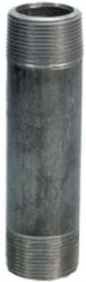 "Anvil® 8700137253 Black Pipe Nipple, 1/4"" x 6"""