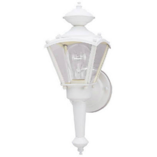 Westinghouse 66984 One-Light Exterior Wall Lantern, White Textured