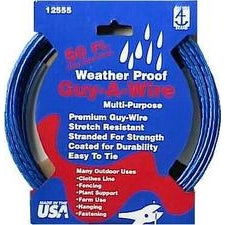 Hillman Stranded Galvanized Guy-A-Wire 50', Blue Plastic Coated