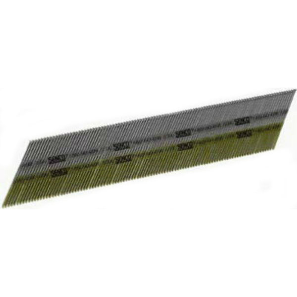 "Senco® DA21EPBN Bright Basic 34° Angled Strip Finish Nail, 2"", 4000-Ct, 15 Ga."