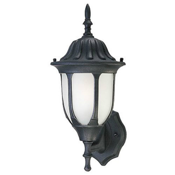 Westinghouse 66826 One-Light Exterior Wall Lantern, Textured Black