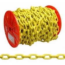 Campbell® PD0725027 Proof Coil Chain, 100', Yellow Polycoated