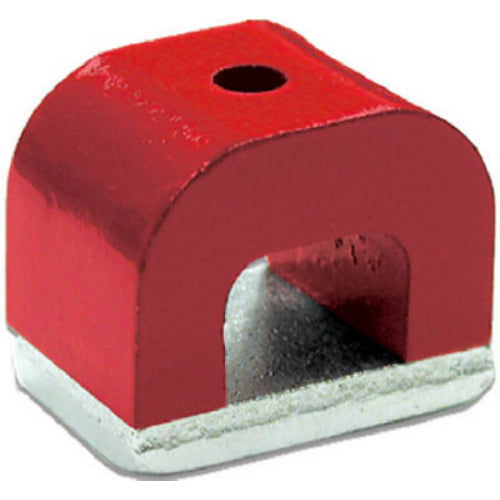 Master Magnetics 07270 Alnico Horseshoe Magnet with Keeper, 2 Oz, Red