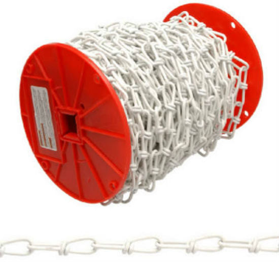 Campbell® PA0722027 Double Loop Chain, 125', White Polycoated