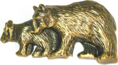 Bear Cabinet Pull Antique Brass