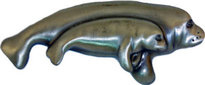 Manatee Cabinet Pull Pewter