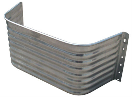Tiger Brand™ AW-12S Square Area Wall, Galvanized Steel, 12""