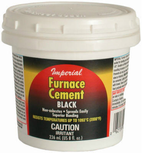 Imperial KK0077-A Furance Cement, 8 Oz, Black