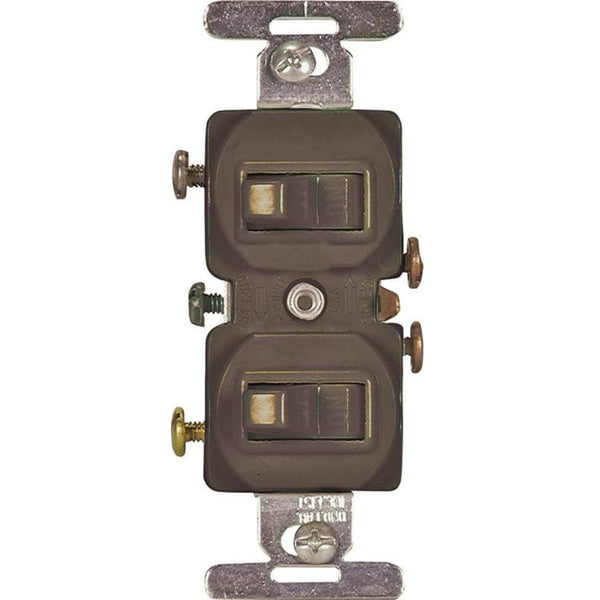 Eaton 271B-BOX Double Combination Switches, 15A, Brown