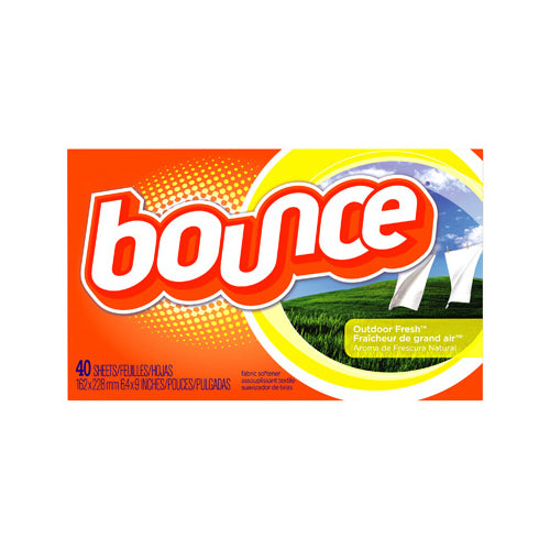 Bounce 80049 Fabric Softener Dryer Sheets, Outdoor Fresh™ Scent, 40-Counts